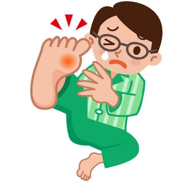足趾の痛み